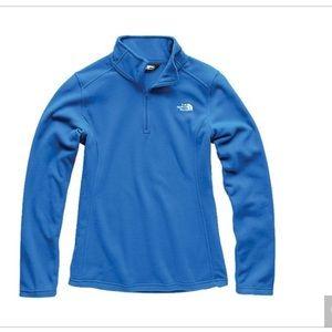 The North Face Blue Fleece Quarter Zip Size Small